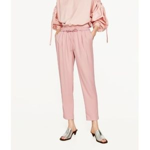 NWT Zara AW17 Size S Pink Trousers